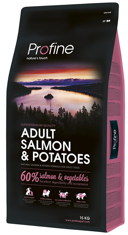 Profine hondenvoer Adult Salmon & Potatoes 15 kg