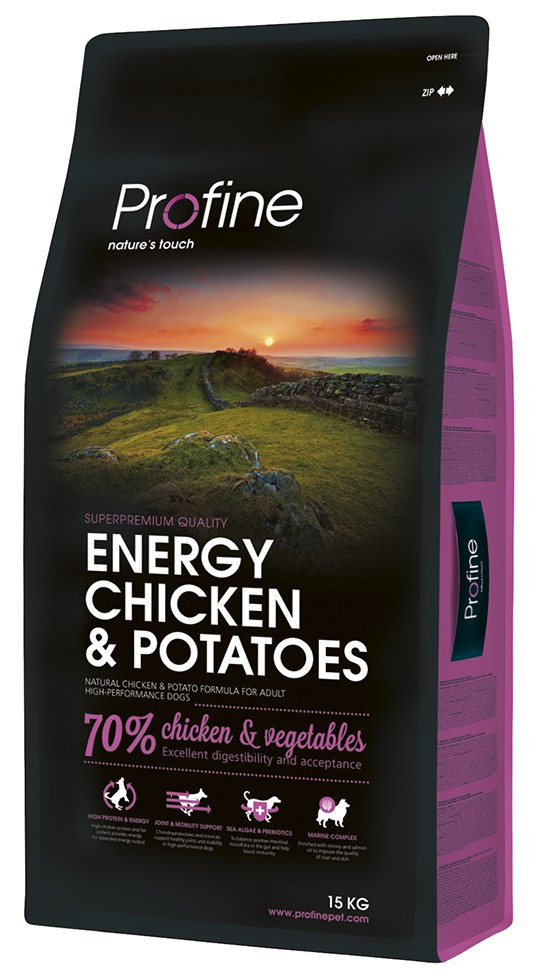 Profine hondenvoer Energy Chicken & Potatoes 15 kg