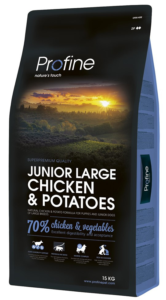 Profine hondenvoer Junior Large Chicken & Potatoes 15 kg