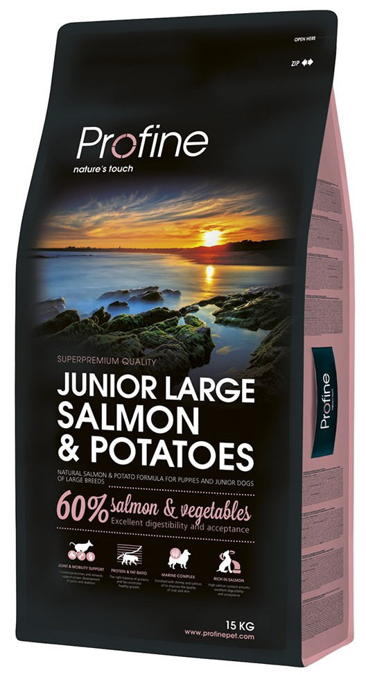 Profine hondenvoer Junior Large Salmon & Potatoes 15 kg