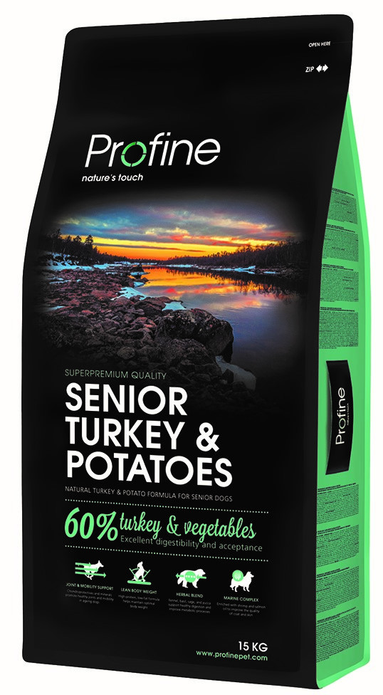 Profine hondenvoer Senior Turkey & Potatoes 15 kg