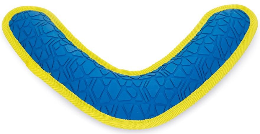 Beeztees Fetch boomerang blauw/geel