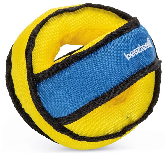 Beeztees Fetch bal nylon blauw/geel