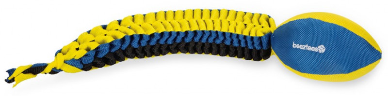 Beeztees Fetch bal met staart blauw/geel