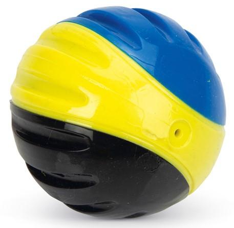 Beeztees Fetch bal blauw/geel/zwart 2 st