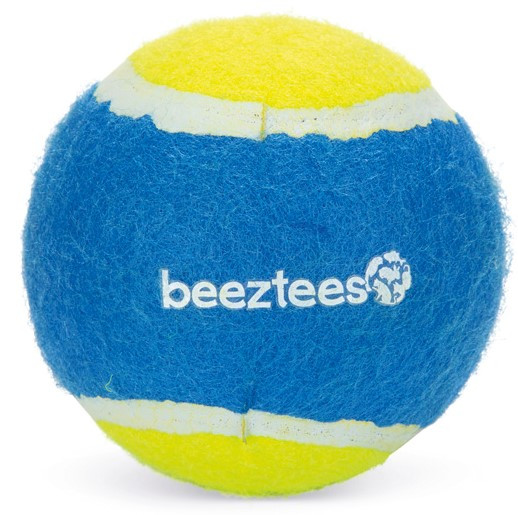 Beeztees Fetch tennisbal blauw/geel