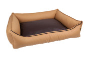 Luna beige chocolate dog bed.jpg