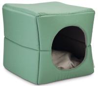 Beeztees kattenhuis Boxi groen/grijs thumb