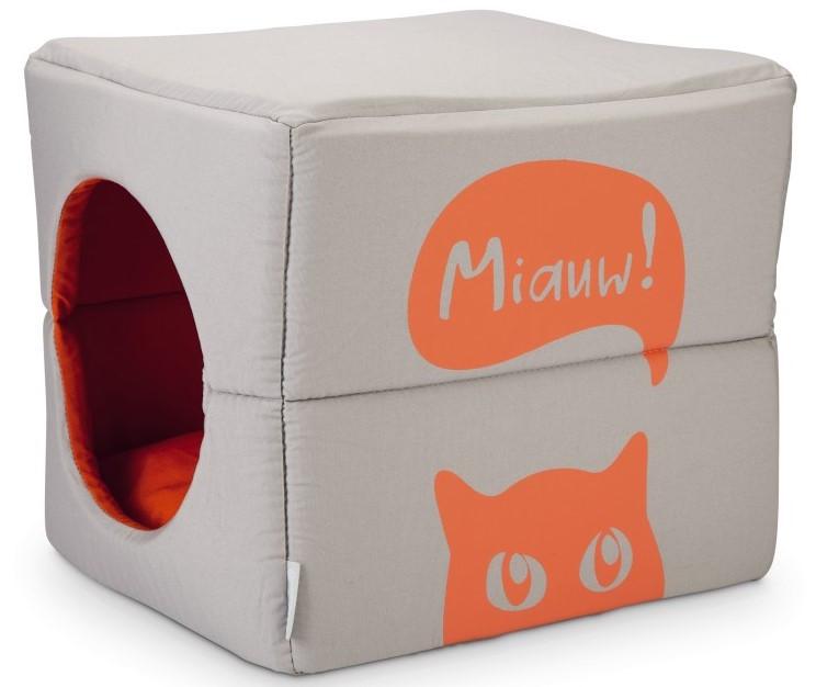 Beeztees kattenhuis Gillo grijs/oranje
