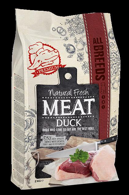 Natural Fresh MEAT hondenvoer Adult duck 2 kg