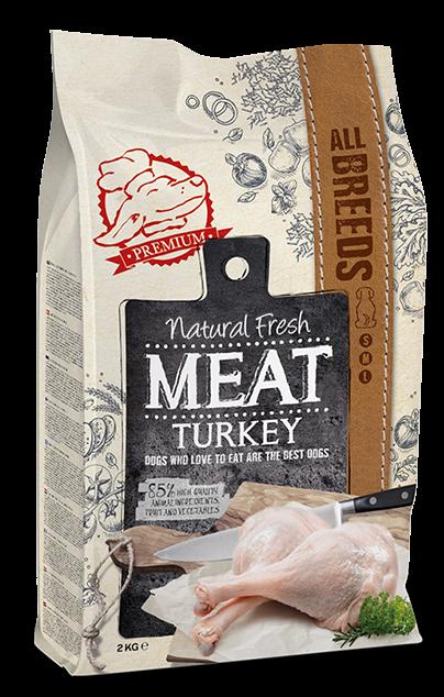Natural Fresh MEAT hondenvoer Adult turkey 2 kg