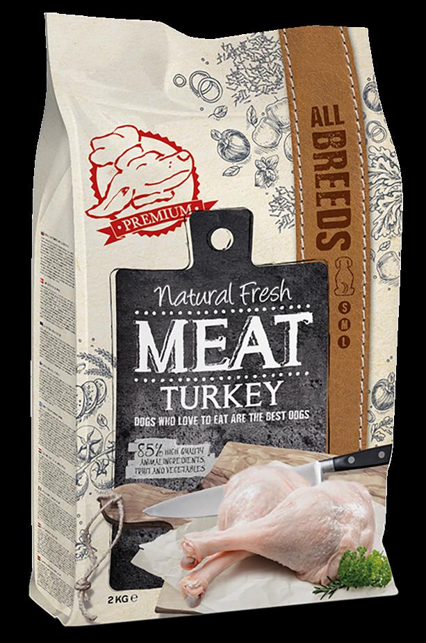 Natural Fresh MEAT hondenvoer Adult turkey 12 kg