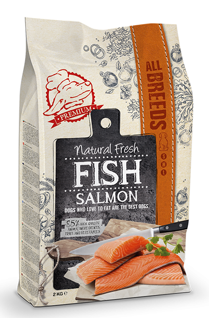 Natural Fresh FISH hondenvoer Adult salmon 2 kg