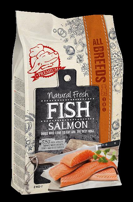 Natural Fresh FISH hondenvoer Adult salmon 2 kg