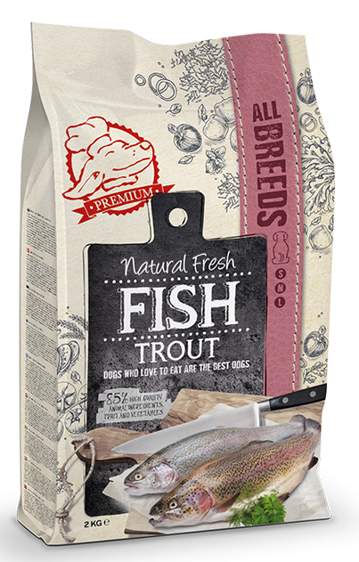 Natural Fresh FISH hondenvoer Adult trout 2 kg