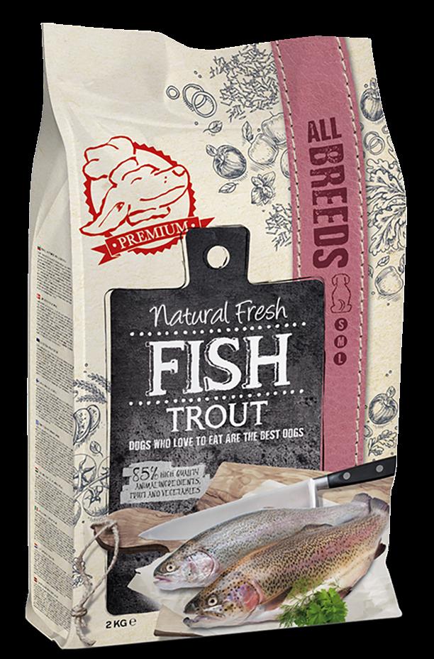 Natural Fresh FISH hondenvoer Adult trout 12 kg
