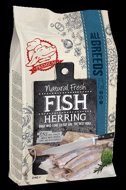 Natural Fresh FISH hondenvoer Adult herring 2 kg