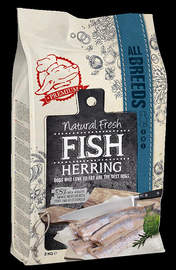 Natural Fresh FISH hondenvoer Adult herring 12 kg