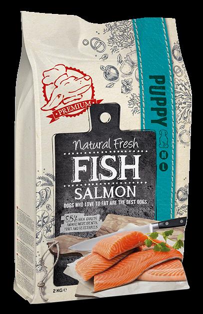 Natural Fresh FISH hondenvoer Puppy ML salmon 2 kg