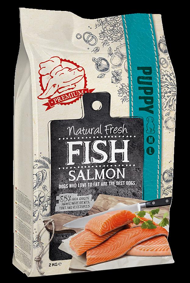 Natural Fresh FISH hondenvoer Puppy ML salmon 12 kg