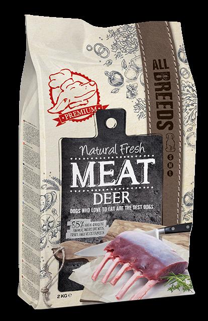 Natural Fresh MEAT hondenvoer Adult deer 2 kg