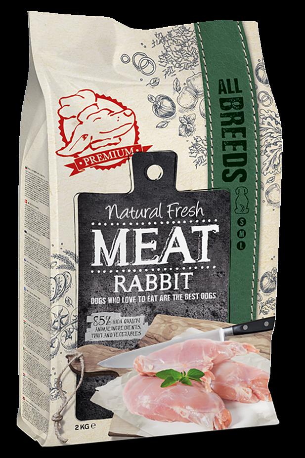 Natural Fresh MEAT hondenvoer Adult rabbit 12 kg