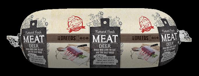 Natural Fresh MEAT hondenworst deer <br>250 gr