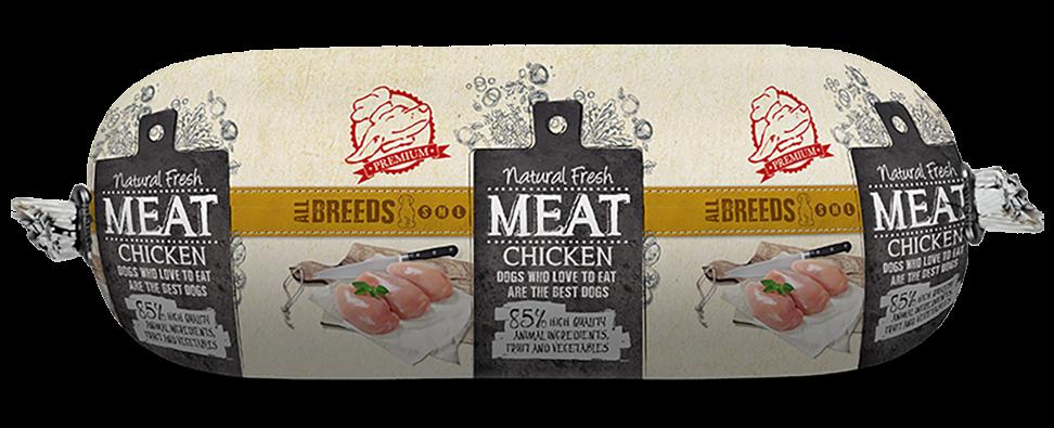 Natural Fresh MEAT hondenworst chicken 600 gr