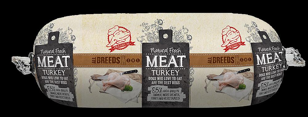 Natural Fresh MEAT hondenworst turkey <br>600 gr