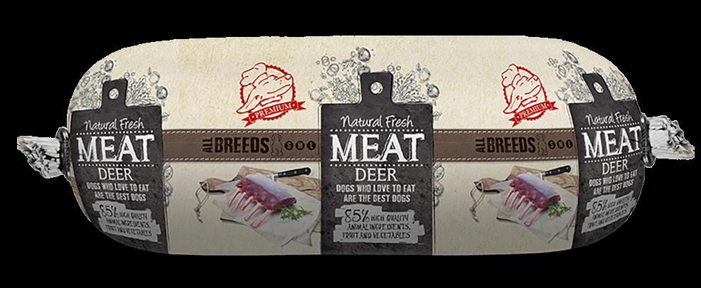 Natural Fresh MEAT hondenworst deer <br>600 gr