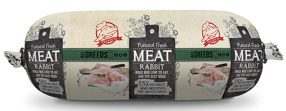 Natural Fresh MEAT hondenworst rabbit <br>600 gr