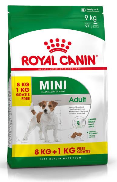 8 + 1 kg Royal Canin hondenvoer Mini Adult