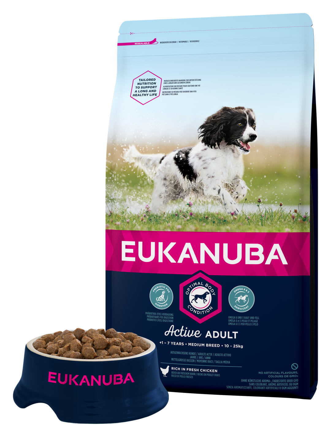Eukanuba hondenvoer Active Adult Medium Breed 3 kg