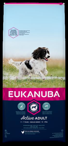 Eukanuba hondenvoer Active Adult Medium Breed 12 kg