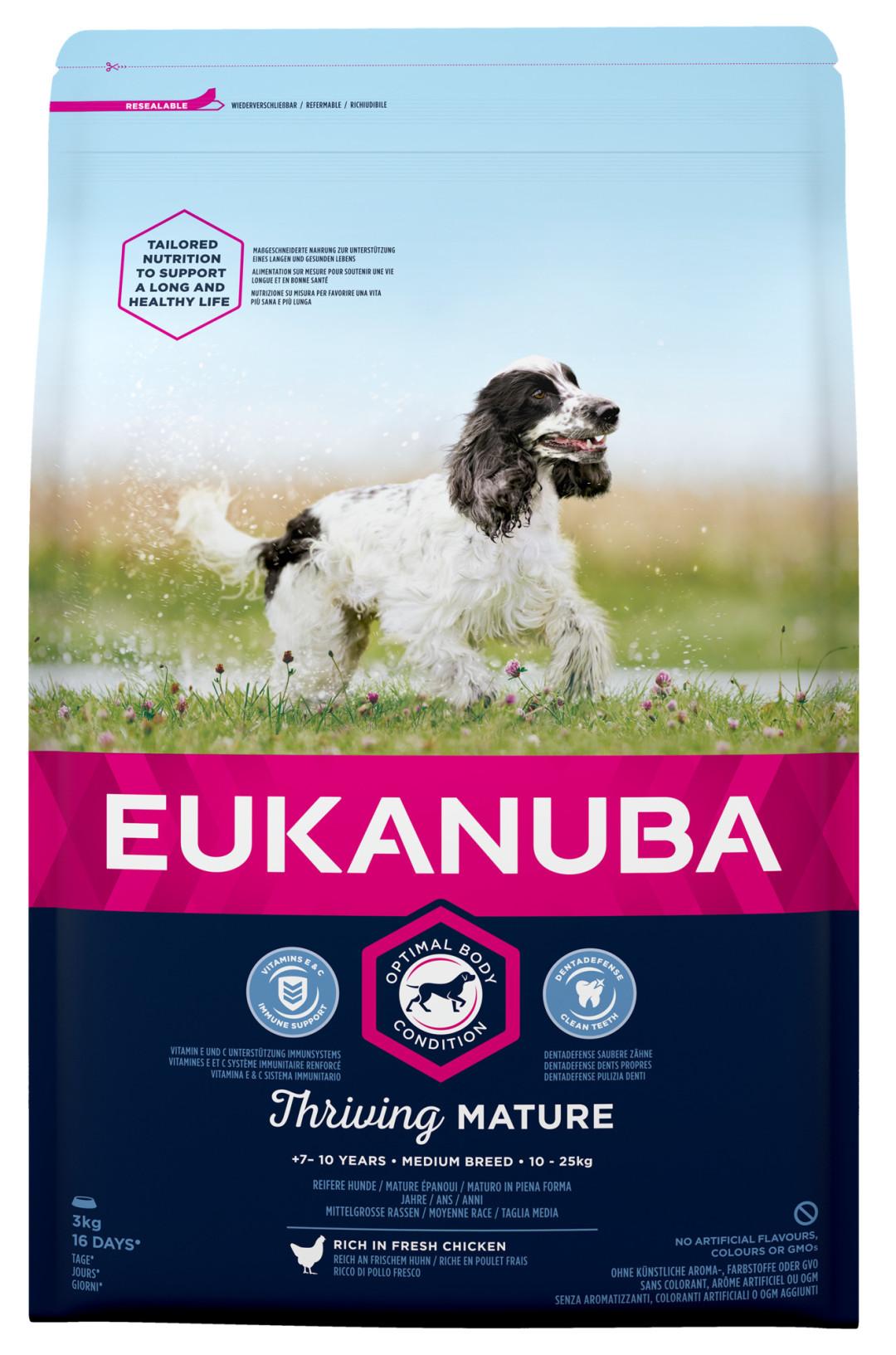 Eukanuba hondenvoer Thriving Mature Medium Breed 3 kg