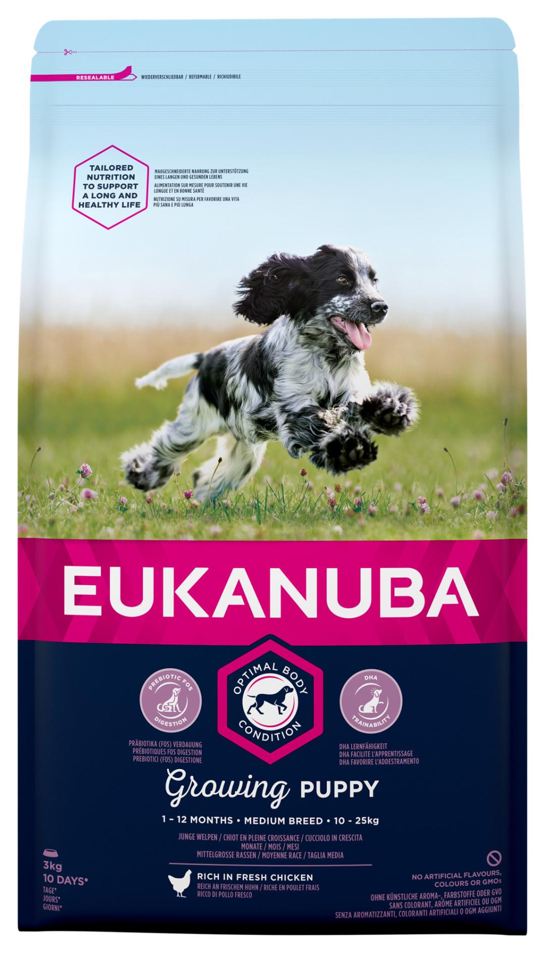 Eukanuba hondenvoer Growing Puppy Medium Breed 3 kg