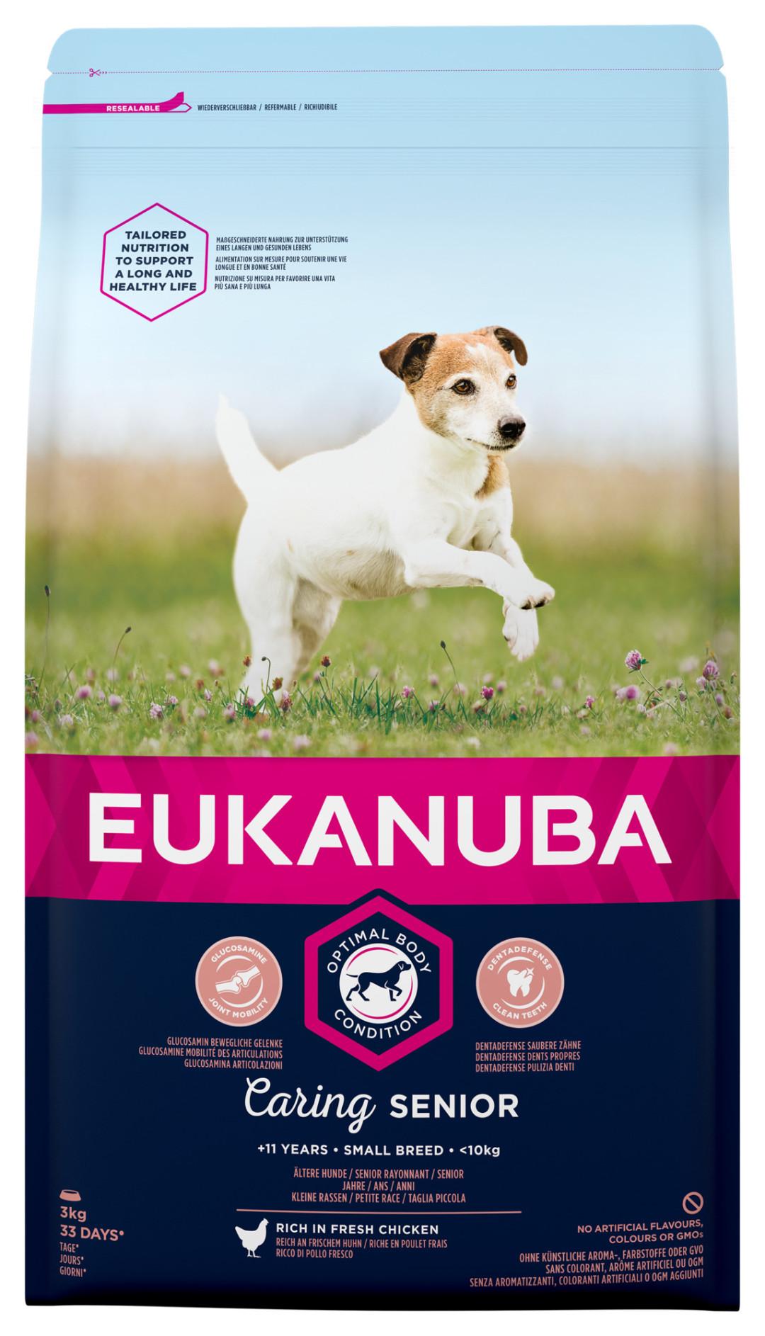 Eukanuba hondenvoer Caring Senior Small Breed 3 kg