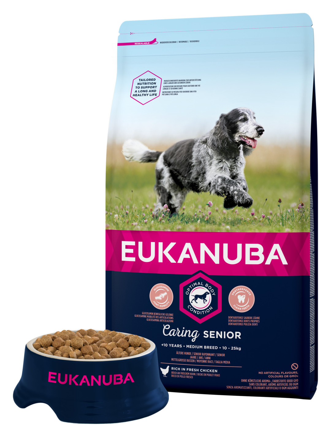 Eukanuba hondenvoer Caring Senior Medium Breed 3 kg