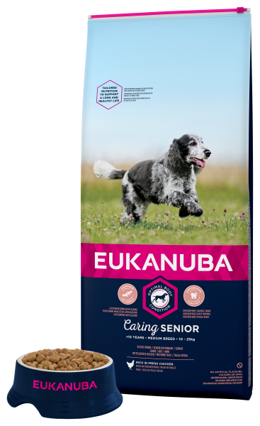 Eukanuba hondenvoer Caring Senior Medium Breed 12 kg