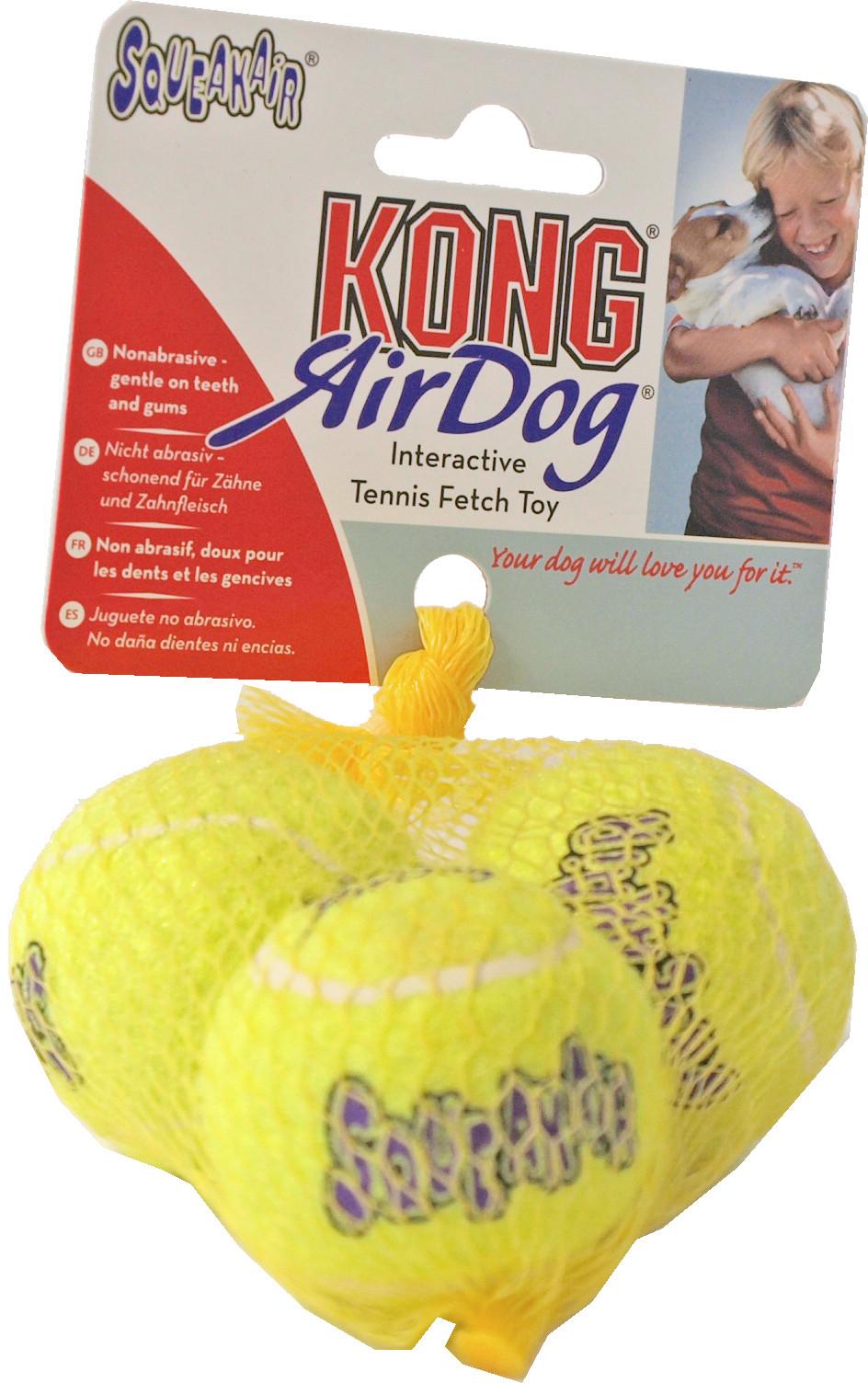Kong AirDog Squeakair tennisbal 3 st
