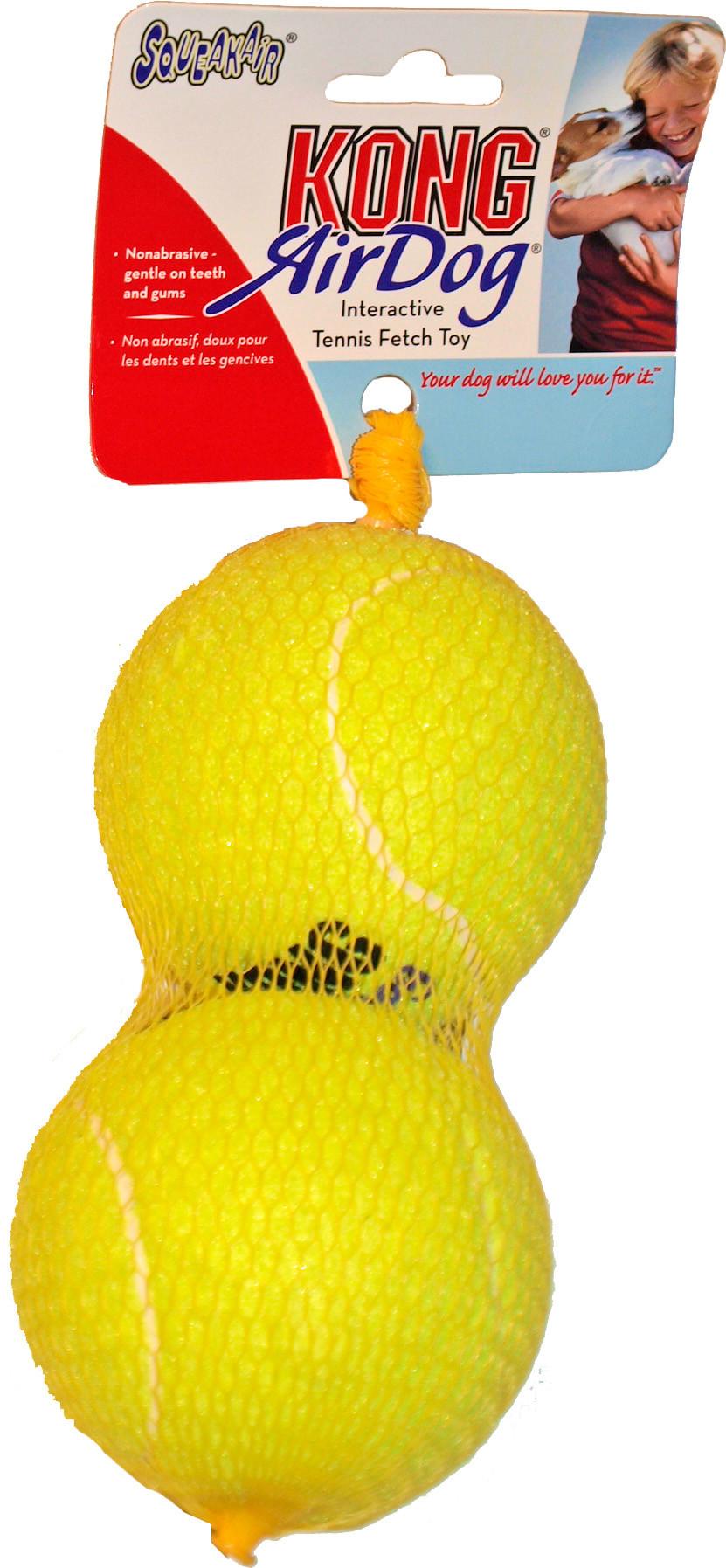 Kong AirDog Squeakair tennisbal L 2 st