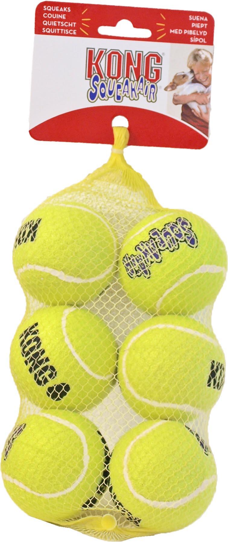 Kong AirDog Squeakair tennisbal M 6 st