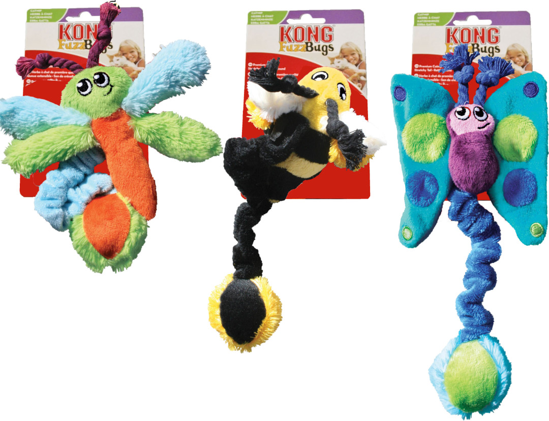 Kong Kitty Fuzz Bugs assorti