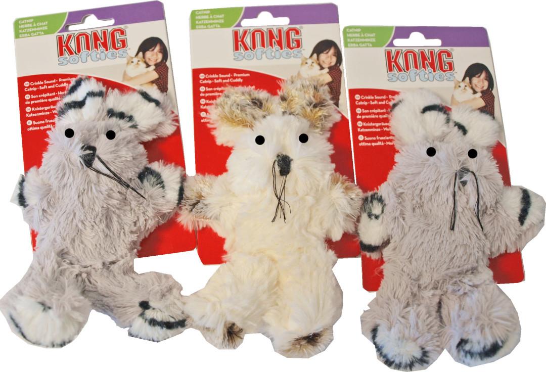 Kong Softies fuzzy bunny assorti