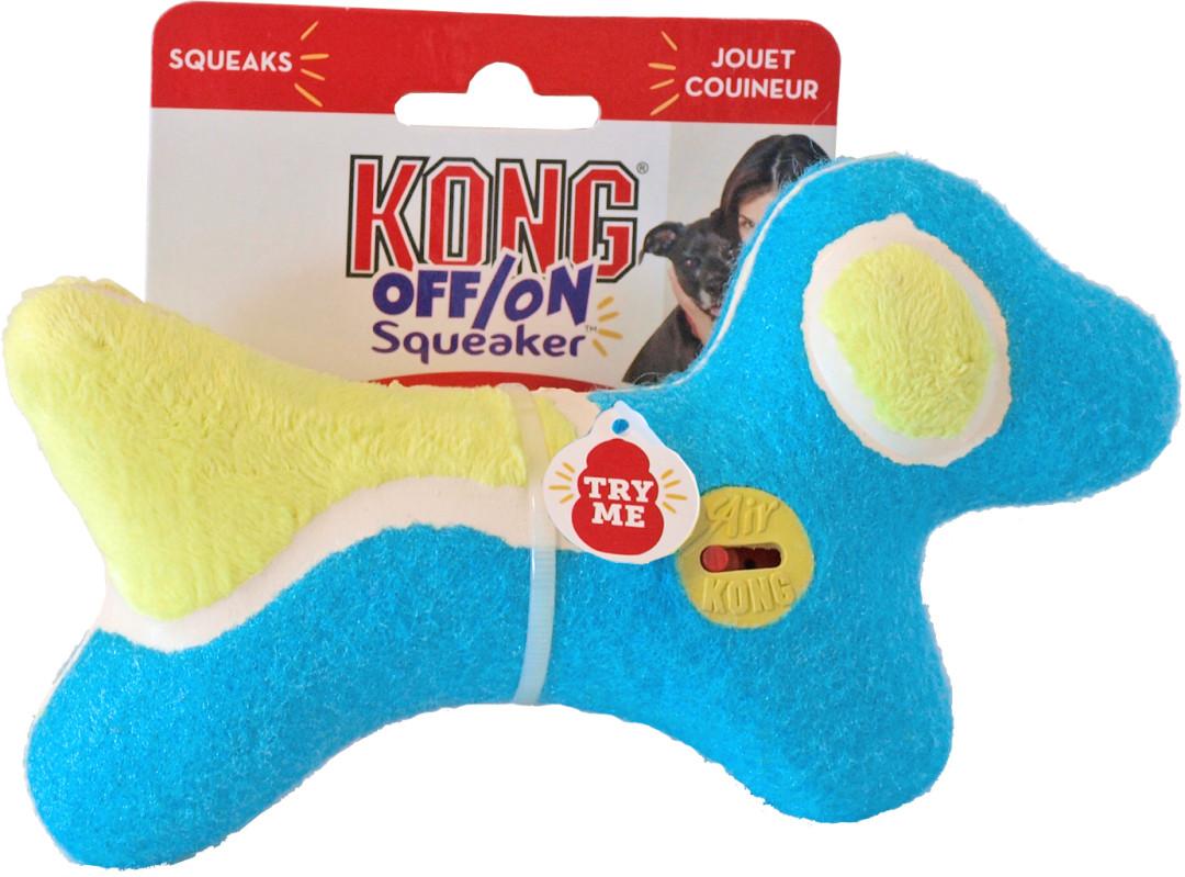 Kong Off/On Squeaker hond assorti