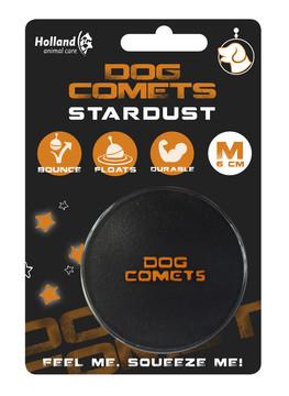 Dog Comets bal Stardust zwart/oranje