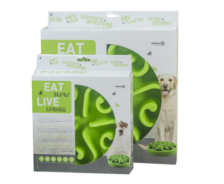 Eat Slow Live Longer voerbak Original green