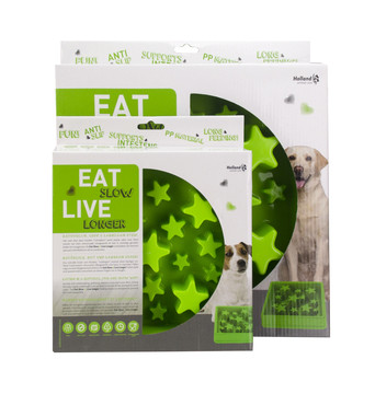 Eat Slow Live Longer voerbak Star green
