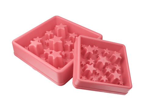 Eat Slow Live Longer voerbak Star pink