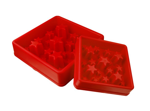 Eat Slow Live Longer voerbak Star red